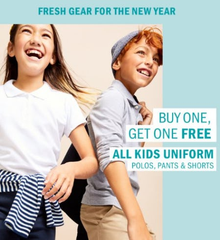 Buy One Get One Free All Kids Uniform from Old Navy