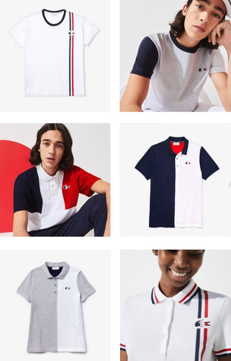 Sport the Red, White & Blue from Lacoste