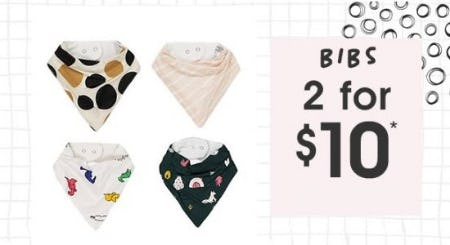 2 for $10 Bibs from Cotton On