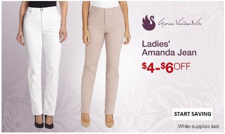 $4–$6 Off Ladies' Amanda Jean from Costco