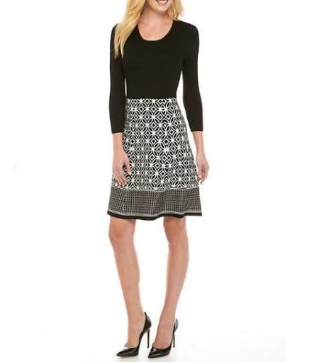 Sandra Darren Solid Top Button Dress