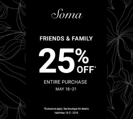 Friends & Family from Soma Intimates