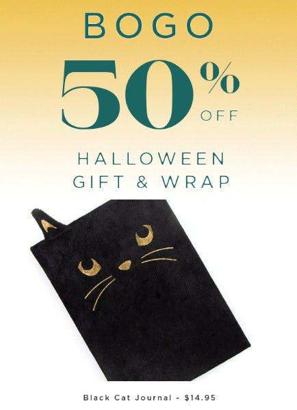 BOGO 50% Off Halloween Gift & Wrap