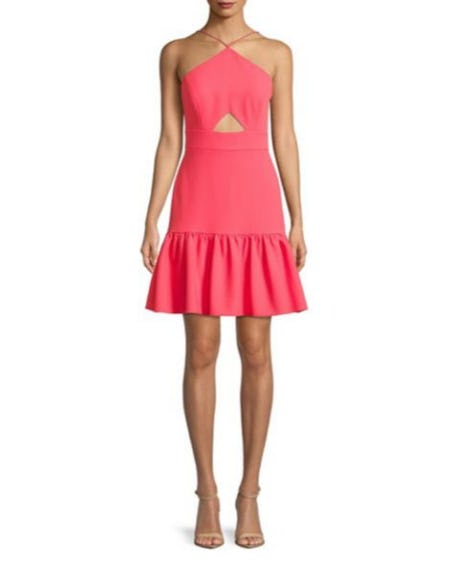 Aidan by Aidan Mattox Cutout Halter Dress