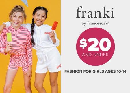 Franki Clothing $20 and Under