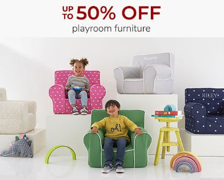 Up to 50% Off Playroom Furniture from Pottery Barn Kids