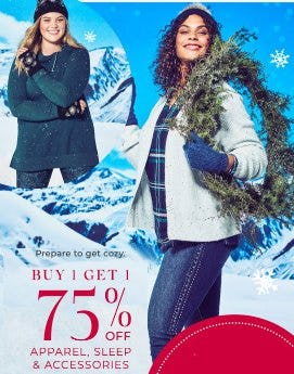 Buy 1, Get 1 75% Off Apparel, Sleep and Accessories from Lane Bryant