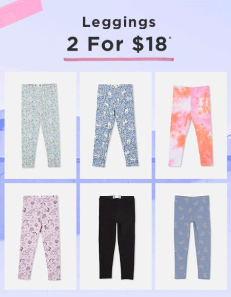 Leggings 2 for $18 from Cotton On Kids