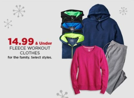 $14.99 & Under Fleece Workout Clothes for the Family from Kohl's