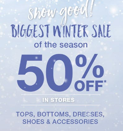 50% Off Winter Sale from maurices