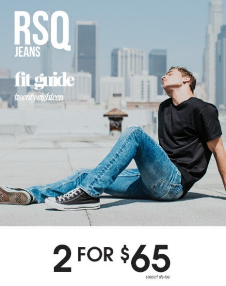2 For $65 RSQ Jeans from Tilly's