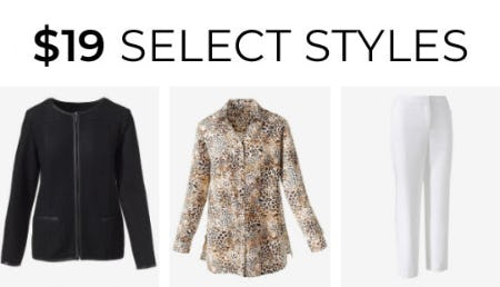 $19 Select Styles from Chico's