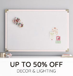 Up to 50% Off on Decor & Lighting from Pottery Barn Kids
