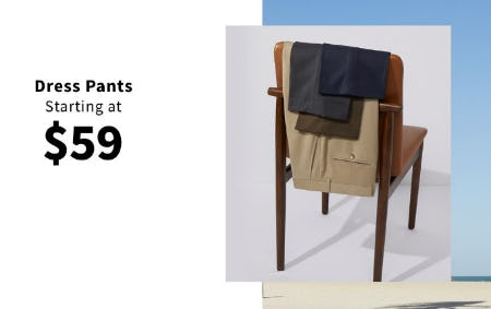 Dress Pants Starting at $59 from Jos. A. Bank