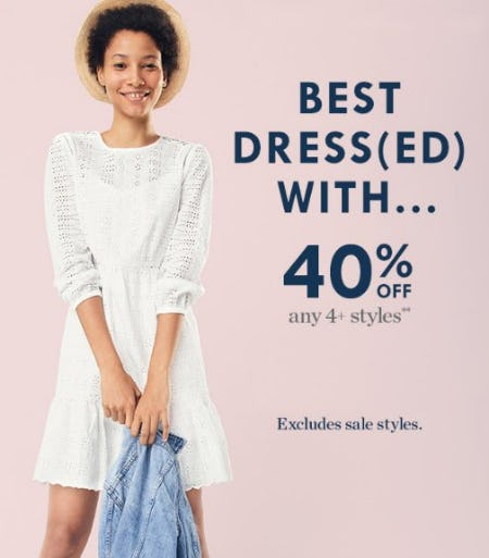 40% Off Any 4+ Styles from J.Crew