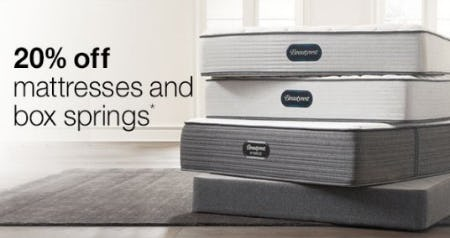 20% Off Mattresses and Box Springs