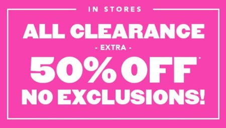 Extra 50% Off All Clearance