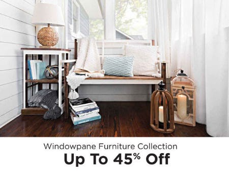 Up to 45% Off Windowpane Furniture Collection from Kirkland's Home