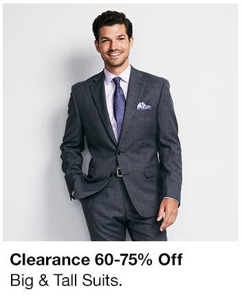 60-75% Off Clearance Big & Tall Suits from macy's
