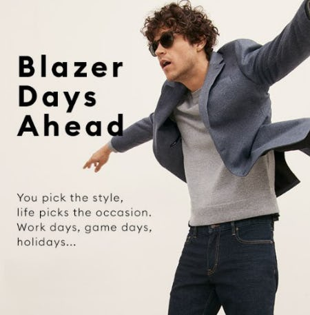 The Blazer Does it All: Sharp, Casual, Sporty, Classic from Banana Republic