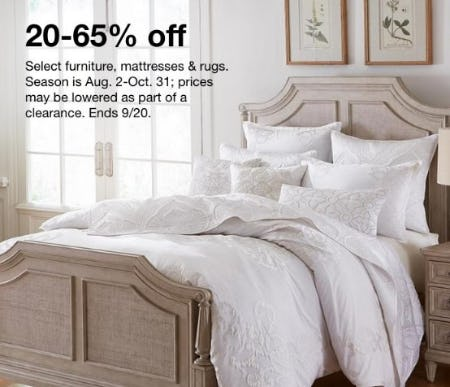 20-65% Off Select Furniture, Mattresses & Rugs