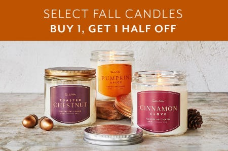 BOGO Half Off Select Fall Candles from Sur La Table