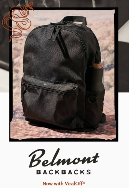 Belmont Backpacks Now With ViralOff