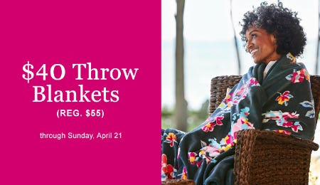 $40 Throw Blankets from Vera Bradley