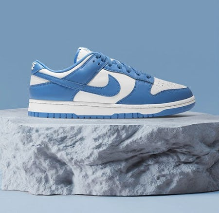 The Nike Dunk Low 'University Blue from Champs Sports
