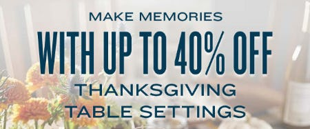 Up to 40% Off on Thanksgiving Table Settings