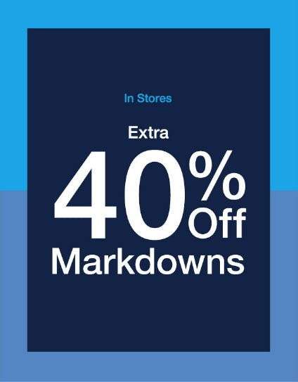Extra 40% Off Markdowns from Gap