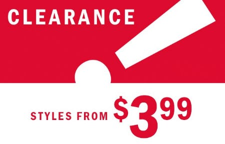 Clearance from $3.99 from Old Navy