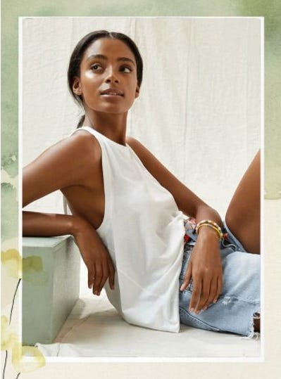 To a Tank, to a Tee from Anthropologie