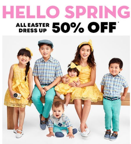 50% Off All Easter Dress Up from The Children's Place