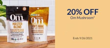 20% Off Om Mushroom