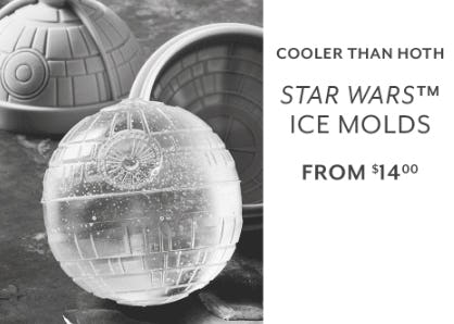 Star Wars Ice Molds from $14.00 from Sur La Table