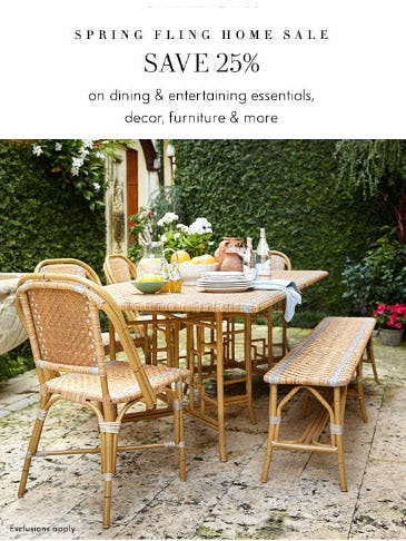 25% Off Spring Fling Home Sale from Neiman Marcus