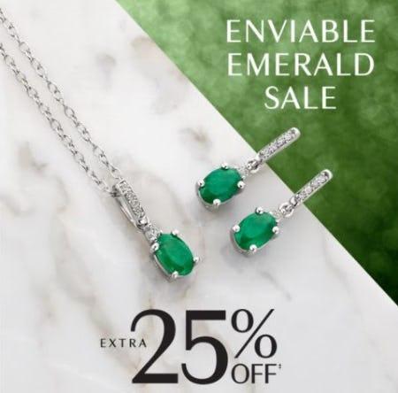 Extra 25% Off Stunning Emerald Jewelry from Littman Jewelers