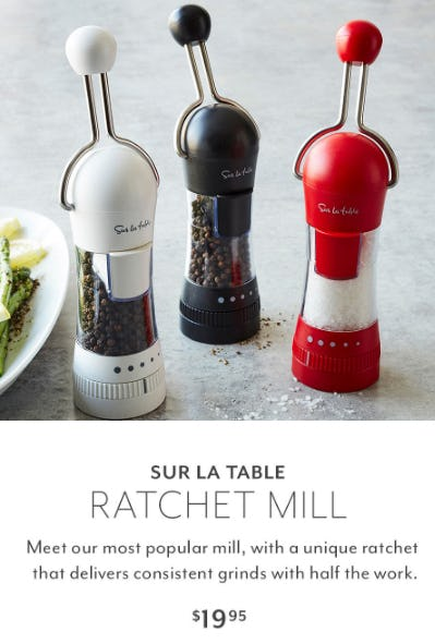 Sur La Table Ratchet Mill $19.95 from Sur La Table