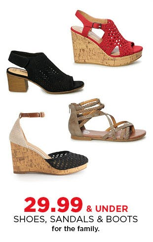 $29.99 & Under Shoes, Sandals & Boots from Kohl's