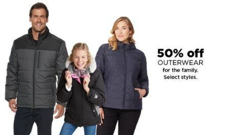 50% Off Outerwear from Kohl's