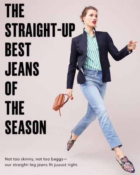 The Straight-Up Best Jeans of the Season from J.Crew-on-the-island