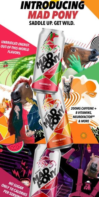 Introducing the New Mad Pony Energy Drink from GNC Live Well