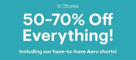 50–70% Off Everything from Aéropostale