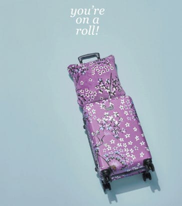 Our Rolling Luggage from Vera Bradley