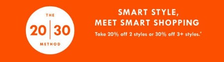 Take 20% Off 2 Styles or 30% Off 3+ Styles from J.Crew