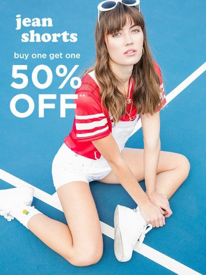 Jean Shorts Buy One, Get One 50% Off from rue21