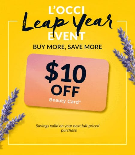 L'occi Leap Year Event from L'Occitane