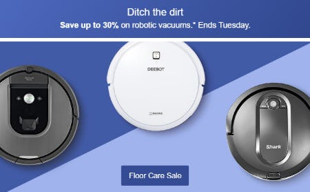 Floor Care Sale Up to 30%