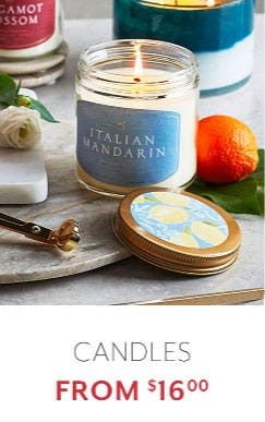 Candles from $16.00 from Sur La Table